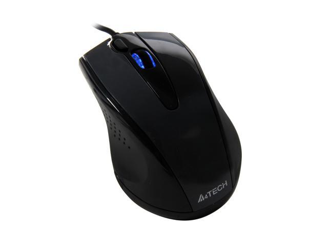 A4Tech D-500F Black 4 Buttons 1 x Wheel USB Wired Optical Mouse