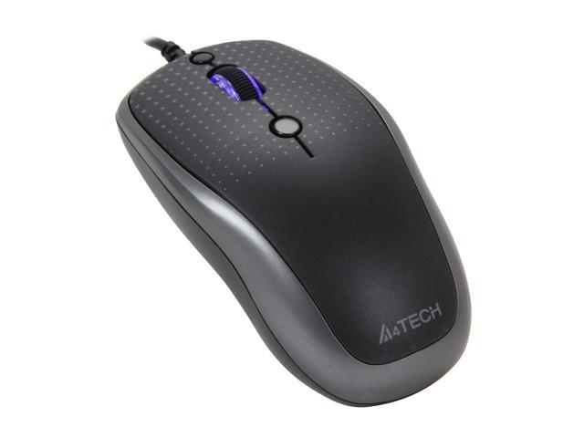 A4Tech D-530-FX2 Gray 5 Buttons 1 x Wheel USB Wired Optical Mouse