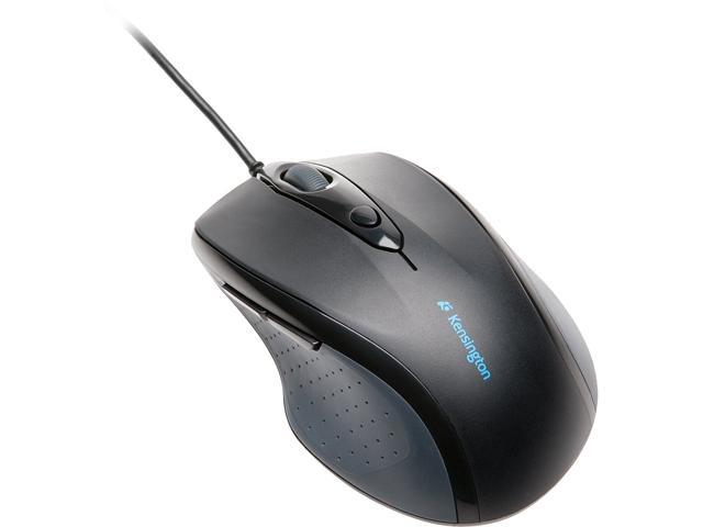 Kensington Pro Fit Full-Size Mouse K72369US Black 1 x Wheel USB or PS/2 Wired Optical Mouse