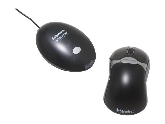 Fellowes 98912 Black 5 Buttons 1 x Wheel USB RF Wireless Optical Mouse
