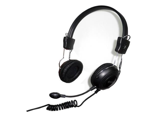 SYBA Connectland CL-CM-5023 3.5mm Connector Circumaural Stereo Headset with Microphone