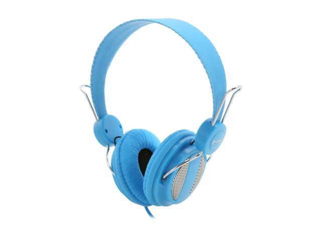 SYBA CL-AUD63025 3.5mm Connector Circumaural Lightweight Headset for iPhone & Smartphone, Built-in Slim In-line Microphone - Sky Blue