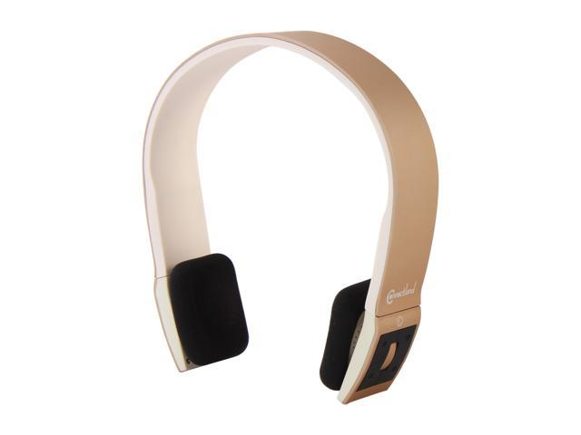 SYBA Multimedia CL-AUD23039 Bluetooth v2.1 EDR Stereo Headset with Microphone - Champagne/White