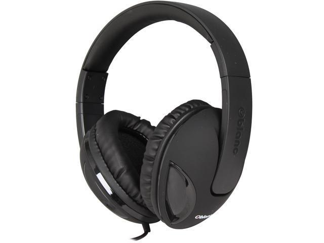 SYBA Cobra Black OG-AUD63038-2 Circumaural Oblanc Cobra200 2.0 Stereo Headphone with In-line Mic