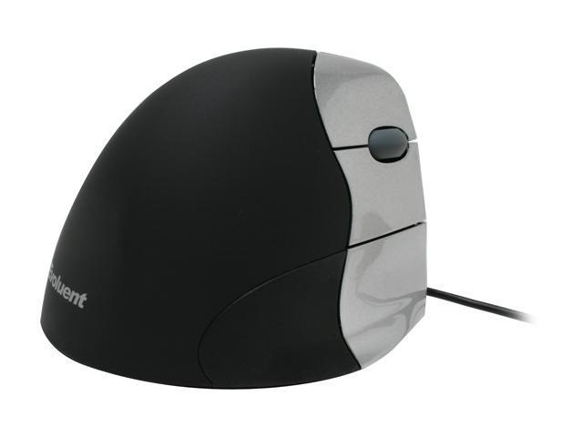 Evoluent VM3R2-RSB Silver/Black 5 Buttons 1 x Wheel USB Wired Optical VerticalMouse 3 Rev 2