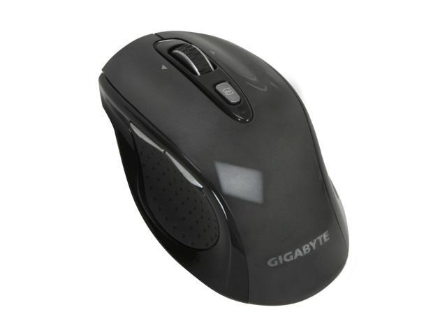 GIGABYTE M7700 GM-M7700 Noble Black Tilt Wheel USB RF Wireless Laser Mouse