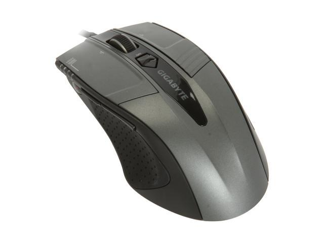 GIGABYTE GM-M8000 Black 7 Buttons Tilt Wheel USB Laser Gaming Mouse