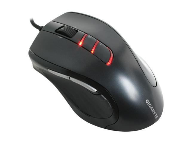 GIGABYTE M6900 Metal Black 7 Buttons Tilt Wheel USB Wired Optical Gaming Mouse