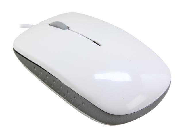 DCT Factory M-5000U Pure White USB Wired Optical Sleek Mini Mouse