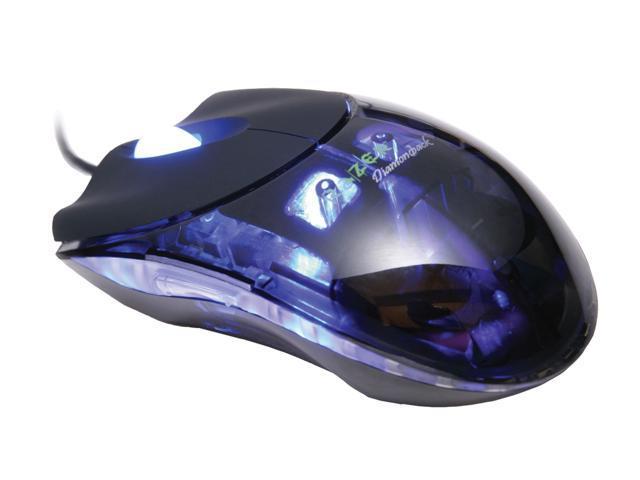 RAZER Plasma Diamondback RZ01-020300-R1M1 Plasma Blue 7 Buttons 1 x Wheel USB Optical Mouse