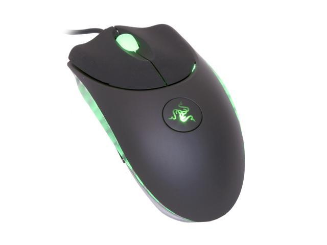 RAZER Copperhead RZ01-00050300-R1M1 Chaos Green 7 Buttons 1 x Wheel Gold plated USB Wired Laser Engine Gaming Mouse