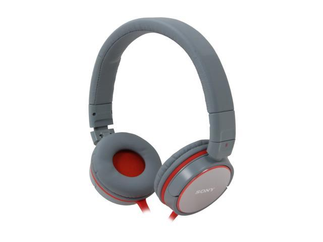 SONY MDR-ZX600/GRAY 3.5mm Supra-aural Stereo Headphone (Gray/Orange)