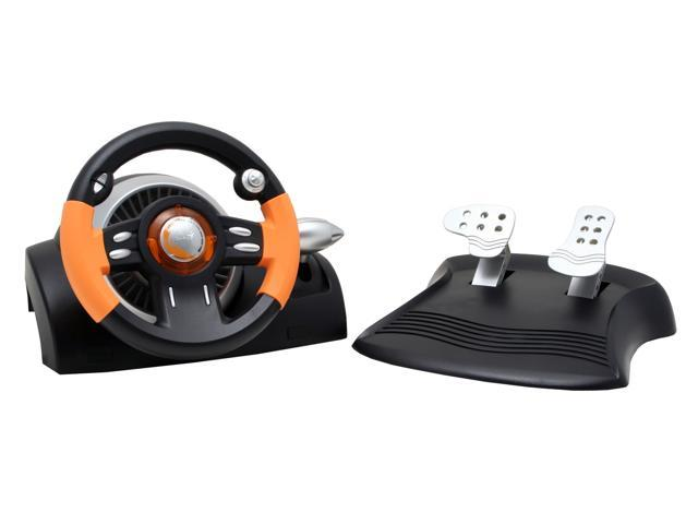 Genius Speed Wheel 3 MT - Vibration Feedback Racing Wheel with Gear Shifter Compatible with PC Gaming