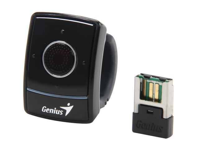 Genius 31030068106 Black RF Wireless Optical Ring Presenter with Scrolling Mouse & Laser Pointer