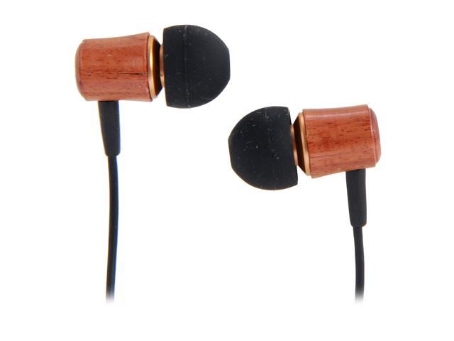 Rosewill RHTS-12004 3.5mm Golden-Plated Connector High Fidelity Passive Noise Isolating Rosewood Earbuds
