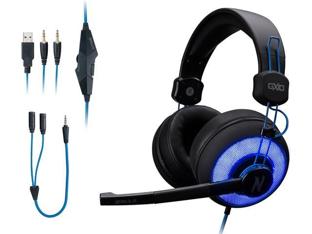 Rosewill NEBULA GX10 Gaming Headset with Microphone for PC / PS4 / Mac & Blue Backlight