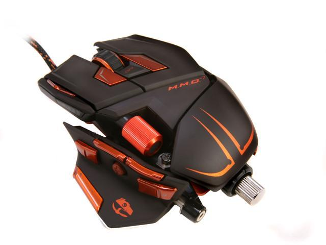 M.M.O. 7 Gaming Mouse Cyborg CCB437130002/04/1 Black 13 Buttons 1 x Wheel USB Wired Laser 6400 dpi