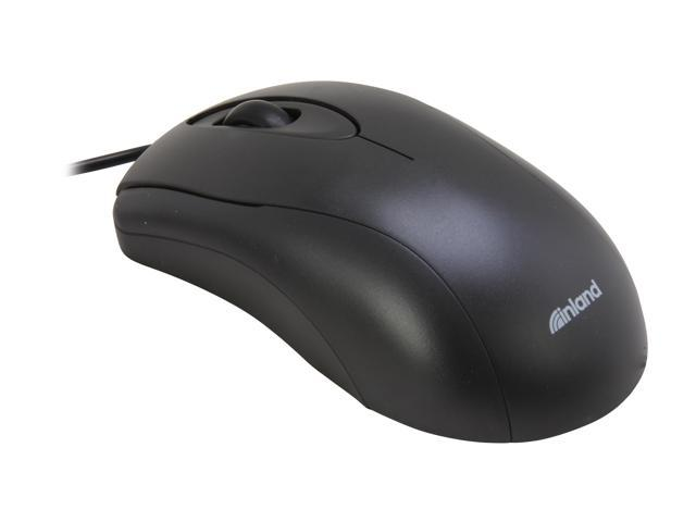 inland 7003 Black Wired Optical Mouse