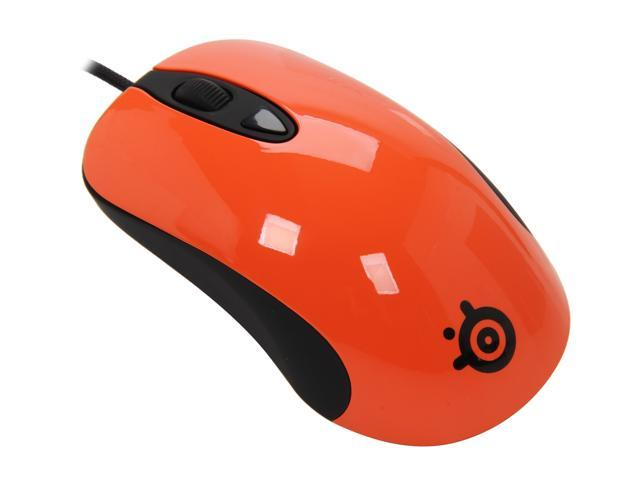 SteelSeries 62024 Orange Wired Optical Mouse