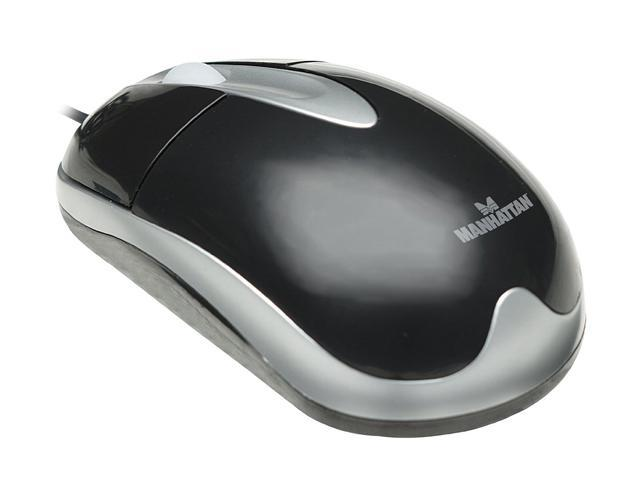Manhattan MH3 Classic Optical Desktop Mouse 177016 Black&White 2 Buttons 1 x Wheel USB Wired Optical Mouse