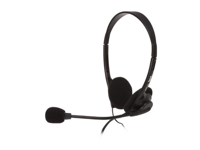 Cyber Acoustics AC-200B 3.5mm Connector Supra-aural Speech Recognition Stereo Headset & Boom Mic