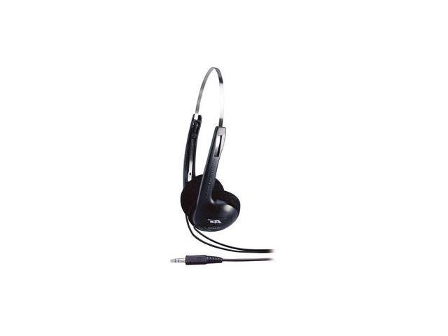 Cyber Acoustics ACM-62B 3.5mm Connector Supra-aural Lightweight PC/Audio Stereo Headphone