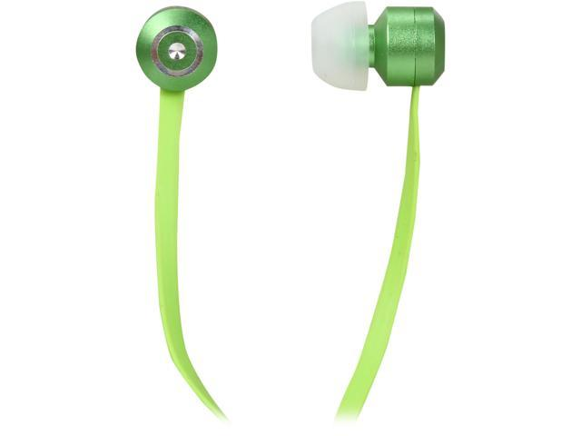 Tenqa Green Bullseyes Green 3.5mm Connector Aluminum Earbuds with Mic and Remote