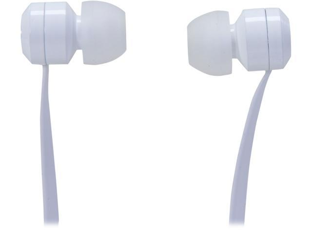 Tenqa White Bullseyes White 3.5mm Connector Aluminum Earbuds with Mic and Remote