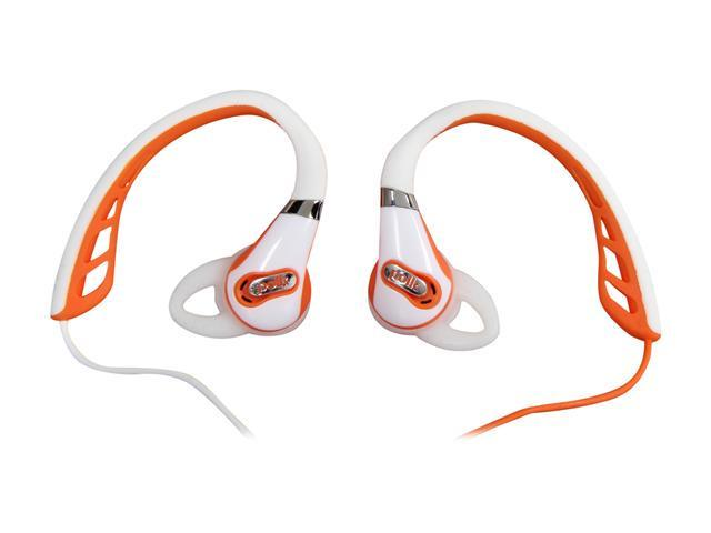 Polk Audio Orange UltraFit 500 In-Ear Headphone - White/Orange