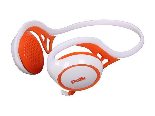 Polk Audio UltraFit 2000 On-Ear Sports Headphones with iPod/iPhone Control and Mic - White/Orange
