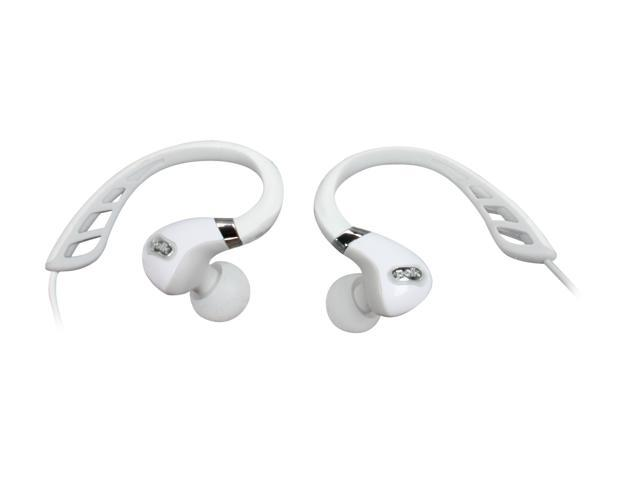 Polk Audio UltraFit 3000 In-Ear Canal Sports Headphones with iPod/iPhone Control and Mic (White/Grey)