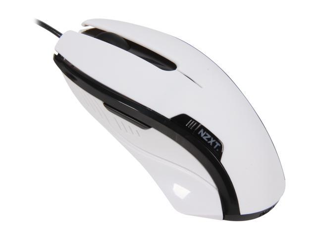 NZXT Avatar S White Wired Laser Gaming Mouse