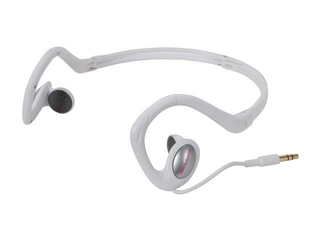 iHome / New Balance  NB467W  3.5mm  Connector Foldable Behind-the-Neck Sport Earbud - White