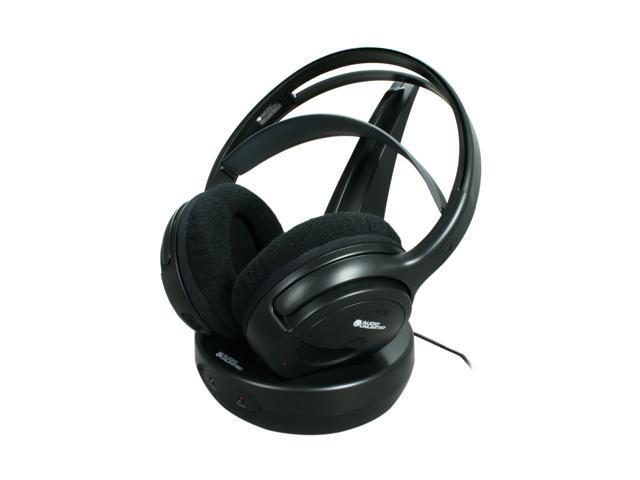 Audio Unlimited Black SPK-9100 Circumaural 900MHz Classic Wireless Stereo Headphone