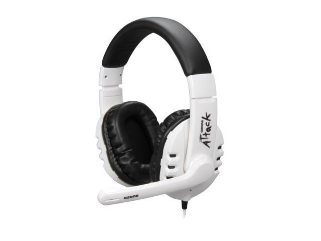 Ozone Gaming Gear ATTACK SNOW 3.5mm x 2 Connector Circumaural Stereo Gaming Headset