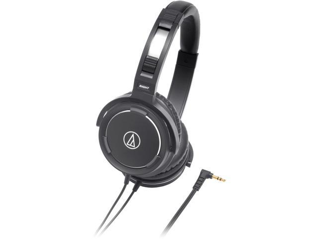 Audio-Technica ATH-WS55 Solid Bass Over-Ear Headphones - Black