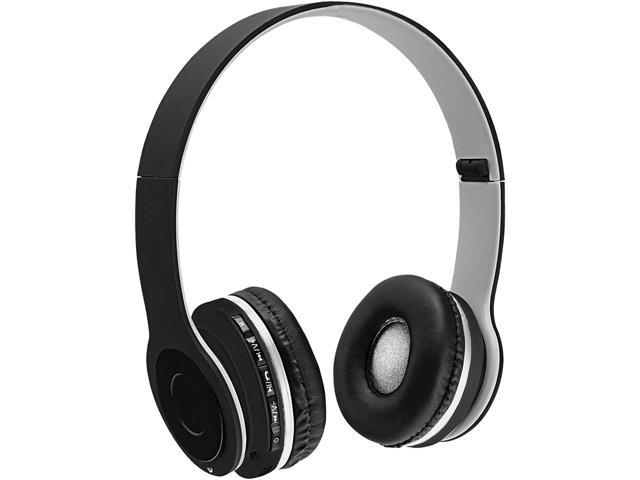 sentry gray bt200 bluetooth stereo headphones with mic. Black Bedroom Furniture Sets. Home Design Ideas