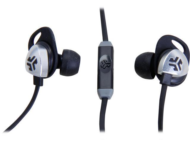 JLAB Black EPIC-BLKGRY-BOX JLab Jbuds EPIC earbuds with 13mm C3 Massive Drivers and Customizable Cush Fins