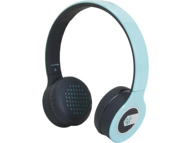 JLAB Teal SUPRA-TEAL-BOX Sleek Stereo On-Ear Headphones with Cable and Universal Mic
