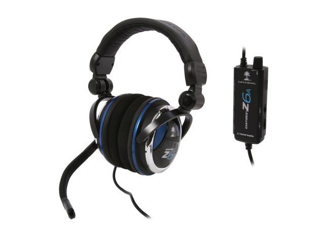 Turtle Beach Ear Force Z6A Quick Disconnect Connector Circumaural PC Gaming Multi-Speaker 5.1 Channels Headset