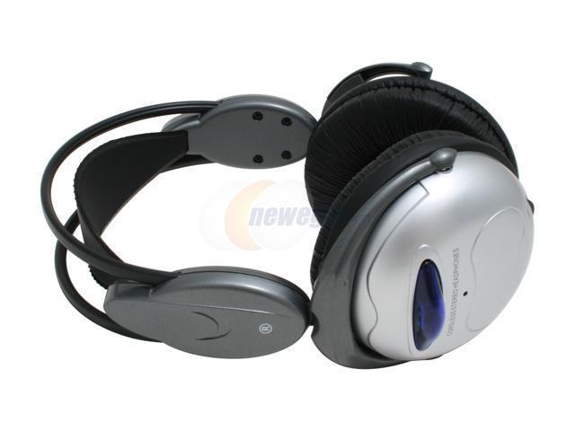 LUXMA LHP-888HT RCA Connector Circumaural Silver Wireless Headphone Set