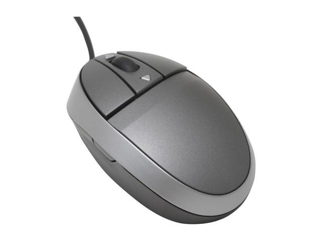 ione Lynx-Q22 Gray 7 Buttons 1 x Wheel USB Wired Laser Mouse