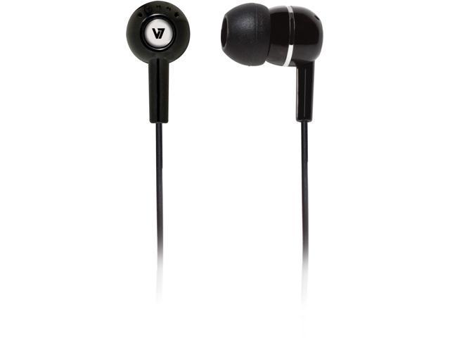 V7 Black HA100-2NP Binaural Headphone/Headset