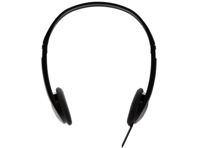 V7 HA300-2NP Lightweight Stereo Headphones, Black