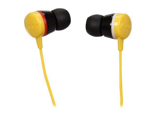 Pioneer SE-CL331-Y 3.5mm Connector Canal Water-Resistant Stereo Earbud Earphone for sports (Yellow)