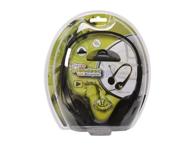 Gear Head AU2500 3.5mm Connector Supra-aural Stereo Headset with Microphone