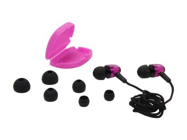 V-Moda Pink EA-VFD-ELPINK Faders VIP Tuned Metal Earplugs (Electro Pink)