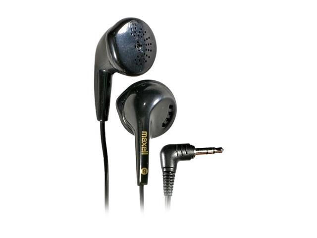Maxell 190560 3.5mm L-plug Connector Earbud EB95 Dynamic Earbuds (Black)