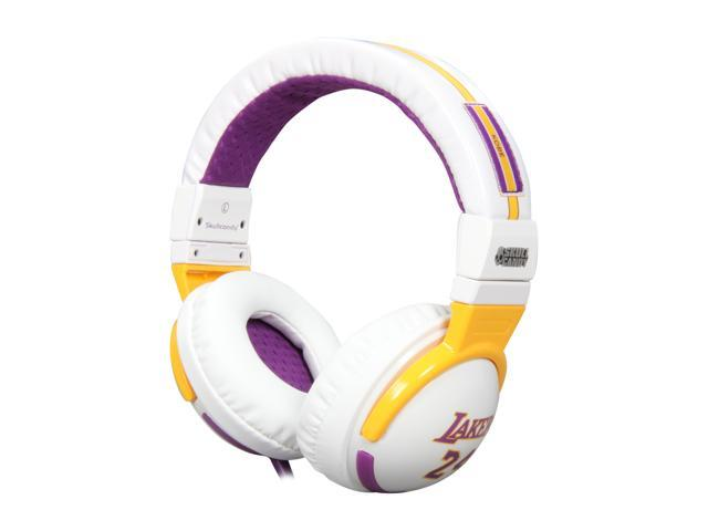 Skullcandy Hesh White SGHEBZ-12 Circumaural Headphone with Mic - NBA Lakers White (2011 Model)