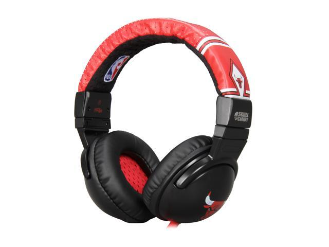 Skullcandy Hesh Red SGHEBZ-14 3.5mm Connector Circumaural Headphone w/ Mic - Derrick Rose Red (2011 Model)